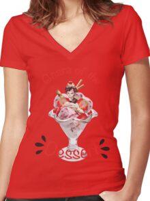 Gaara of the Dessert Women's Fitted V-Neck T-Shirt