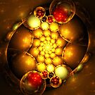 Dragon Eggs - Abstract Fractal Artwork by EliVokounova