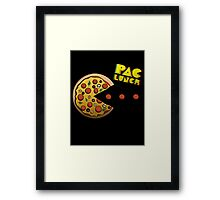 PacMan - PacLunch Funny NoveltyShirt Framed Print
