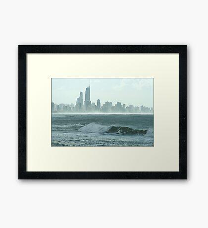 Saltwater haze Framed Print