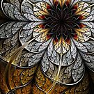 Flower II - Abstract Fractal Artwork by EliVokounova