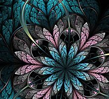 Flower III - Abstract Fractal Artwork by EliVokounova