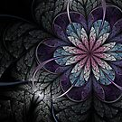 Flower of Melancholy - Abstract Fractal Artwork by EliVokounova