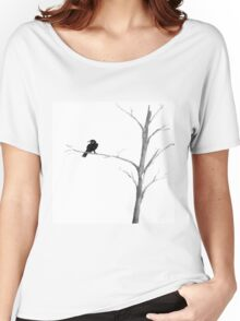 Raven in a Tree Women's Relaxed Fit T-Shirt
