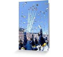 Hat Toss Greeting Card
