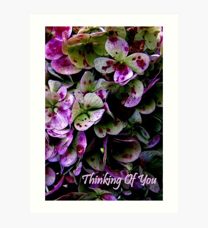 Thinking Of You... Card Art Print