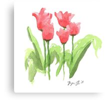 Washington Square Park Tulips Canvas Print