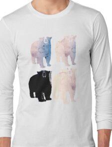 pink bears and blackie -(bear series) Long Sleeve T-Shirt