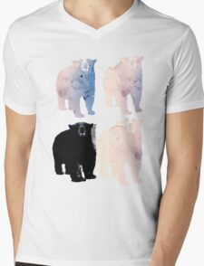 pink bears and blackie -(bear series) Mens V-Neck T-Shirt