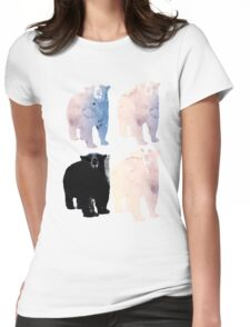 pink bears and blackie -(bear series) Womens Fitted T-Shirt