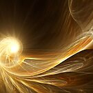 Golden Spiral - Abstract Fractal Artwork by EliVokounova