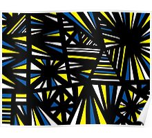 Sammarco Abstract Expression Yellow Blue Poster