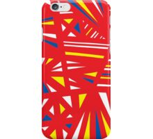 Tishler Abstract Expression Yellow Red Blue iPhone Case/Skin