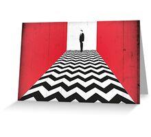 Twin Peaks Black Lodge Greeting Card
