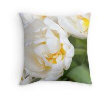 Dreamy, Floaty White Tulips Throw Pillow