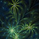 Weed - Abstract Fractal Artwork by EliVokounova