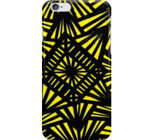 Zomberg Abstract Expression Yellow Black iPhone Case/Skin