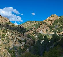 Blue Arizona Sky and Mt. Lemmon by Timothy  Ruf