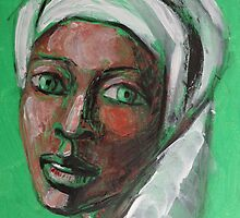 Green Eyes - Portrait Of A Woman by CarmenT