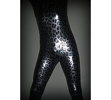 Metallic Leopard Zentai Photographic Print