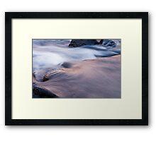 Water flow #1 Framed Print