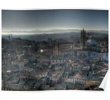 """Tuscan Twilight"" (Siena, Italy) Poster"