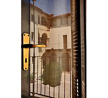 Reflections on Door Photographic Print