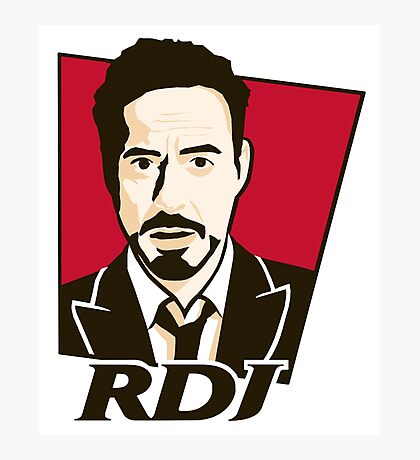 Robert Downey Jr. - KFC Logo Photographic Print