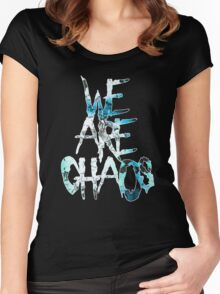 We Are Chaos [Turquoise] Women's Fitted Scoop T-Shirt