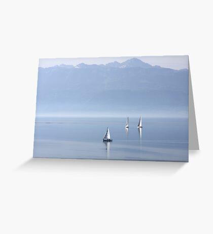 Tranquil sailing Greeting Card