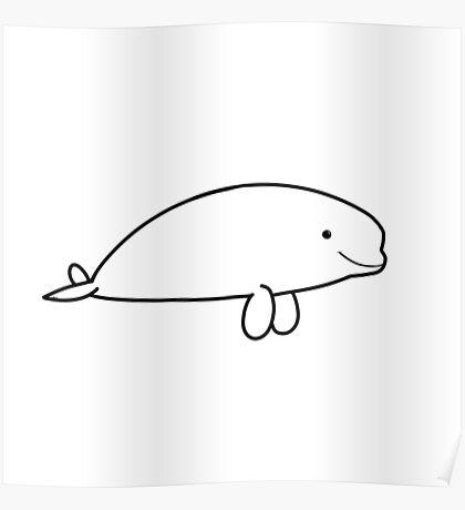 Chibi Beluga Poster