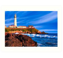 Day's End - Pigeon Point Lighthouse Art Print
