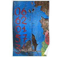 06 62 01 57 34 in RedBlue Poster