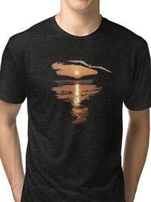 Flying seagull  Tri-blend T-Shirt