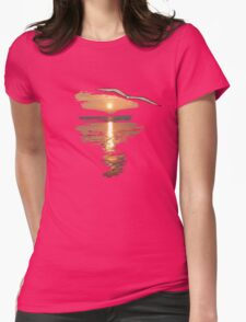 Flying seagull  Womens Fitted T-Shirt