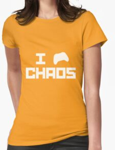 I game Chaos [White] Womens Fitted T-Shirt
