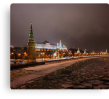 Calendar Moscow Kremlin 2015 and 2016. February Canvas Print