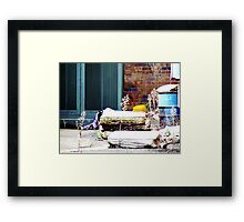 No place for a lady Framed Print