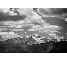 Thunderbirds fly by Pikes Peak Photographic Print
