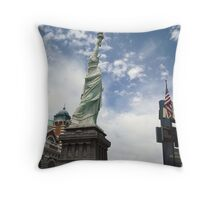 New York and MGM Throw Pillow