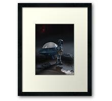 Alien and Saucer Framed Print