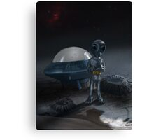 Alien and Saucer Canvas Print