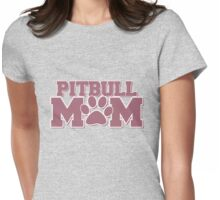 Pitbull MOM Womens Fitted T-Shirt