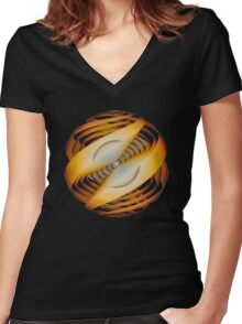 'Alignment and Insight' Women's Fitted V-Neck T-Shirt