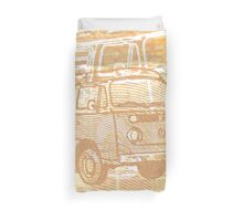 Brown Bay Campervan Montage Duvet Cover