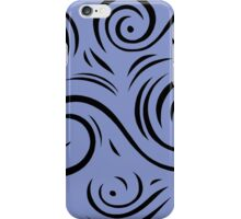 Maze Abstract Expression Blue Black iPhone Case/Skin