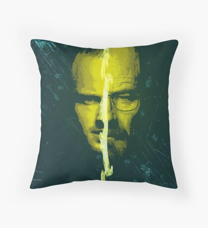 Breaking bad Heisenberg and jesse pinkman portrait  Throw Pillow