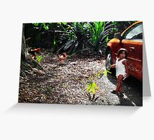 Kauai Hawaii fern girl Greeting Card