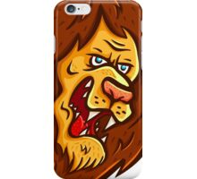 Angry lion  iPhone Case/Skin