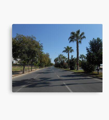 A street in Mersin Canvas Print